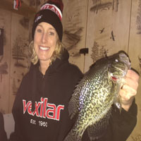 Ice house rental crappie fishing