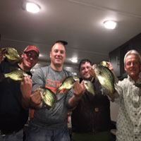 Ice Fishing Crappies Group House